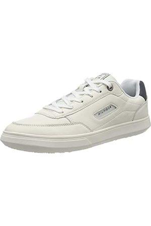 Tommy Hilfiger Tommy Hilfiger Herren Essential Court Leather Sneaker, Weiß (Ivory Ybi)