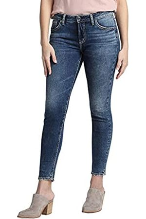 Silver Silver Jeans Co. Damen Avery Curvy Fit High Rise Skinny Jeans