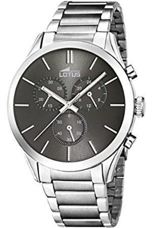 Lotus Lotus Herren Analoger Quarz Uhr mit Edelstahl Armband 18114/2