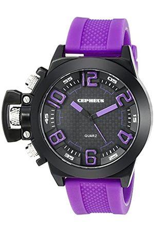CEPHEUS CEPHEUS Herren-Armbanduhr XL Analog Quarz Silikon CP901-620