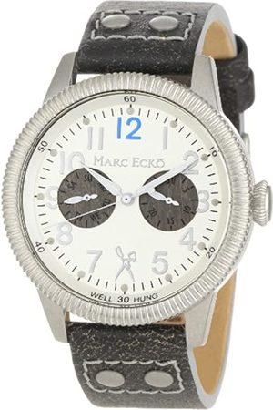 Marc Ecko Marc Ecko Herren Datum klassisch Quarz Uhr mit Leder Armband E13513G1
