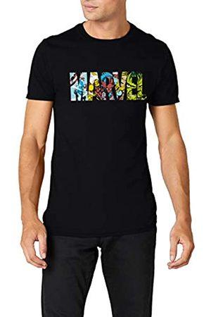 Marvel Herren Shirts - Herren Comic Strip Logo T-Shirt