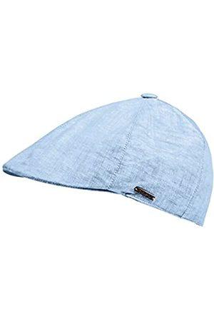 CAPO CAPO Unisex Schirmmützen Linen Flat Cap, Blau (Mid Blue 8)