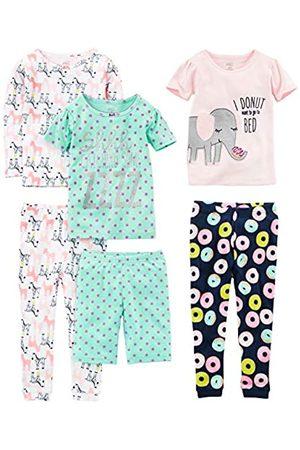 Simple Joys by Carter's Simple Joys by Carter's Baby - Mädchen 6-piece Snug Fit Cotton Pajama Set mehrfarbig Donuts/Zebra/Dots 8 Years