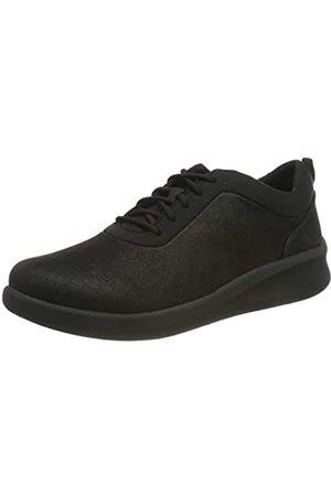 Clarks Clarks Damen Sillian2.0Pace Sneaker, Schwarz (Black Textile)