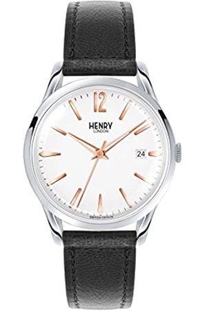 Henry Henry London Unisex Analog Quarz Uhr mit Leder Armband HL39-S-0005