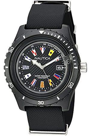 Nautica Nautica Herren Analog Quarz Uhr mit Silikon Armband NAPSRF001