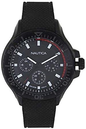 Nautica Nautica Herren Datum klassisch Quarz Uhr mit Silikon Armband NAPAUC004