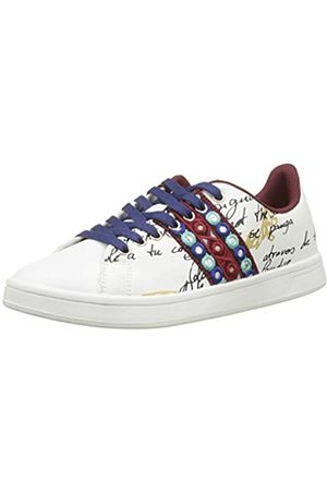 Desigual Damen Shoes_Cosmic_Exotic Lettering Sneaker, (Blanco 1000)