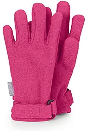 Sterntaler Mädchen Handschuhe - Fingerhandschuhe aus wasserabweisendem Microfleece mit Klettverschluss, Alter: 3-4 Jahre