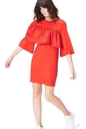 FIND Amazon-Marke: find. Abendkleid Damen mit Rüschen und rundem Ausschnitt, 40