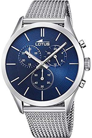 Lotus Lotus Herren Analoger Quarz Uhr mit Edelstahl Armband 18117/4