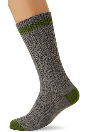 LUSANA Herren Socken & Strümpfe - Herren Schoppersocke mit 2-farbigem Rand Trachtenstrümpfe