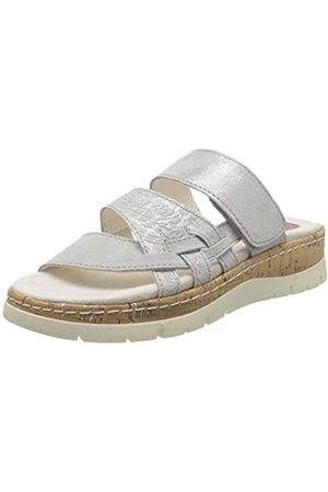 Jana 100% comfort Jana 100% comfort Damen 8-8-27400-24 Pantoletten, Grau (Grey/Silver 212)