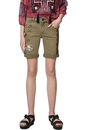 Desigual Damen Knee Trousers ESSAUIRA Woman Green Shorts