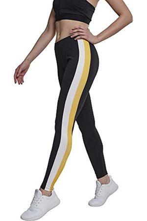 Urban classics Urban Classics Damen Side Stripe Leggings, per pack Mehrfarbig (Black/White/Chromeyellow 01302)