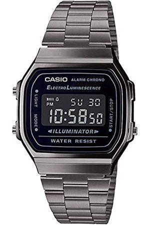 Casio Casio Herren Digital Japanischer Quarz Uhr mit Edelstahl Armband A168WEGG-1BEF