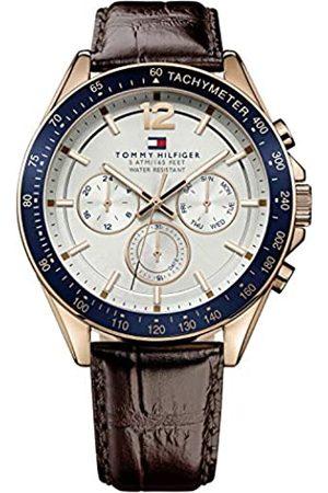 Tommy Hilfiger Tommy Hilfiger Herren Analog Quarz Uhr mit Leder Armband 1791118