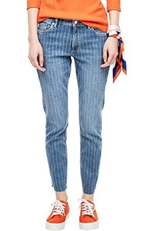 s.Oliver S.Oliver RED LABEL Damen Slim Fit: Jeans mit Waschungs-Streifen blue 36