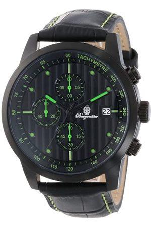 Burgmeister Burgmeister Armbanduhr für Herren mit Analog-Anzeige, Quarz-Uhr und Lederarmband - Wasserdichte Herrenuhr mit zeitlosem