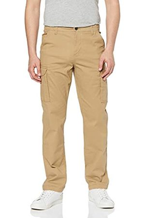 MERAKI Amazon-Marke: Baumwoll Hose Herren Slim Fit Cargo , 34W / 32L