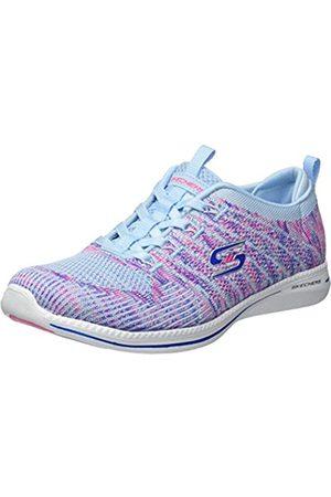 Skechers Skechers Damen City PRO - Busy ME Sneaker, Mehrfarbig (Light Blue/PINK LBPK)