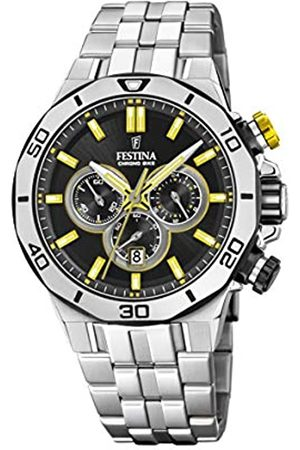 Festina Festina Unisex Erwachsene Chronograph Quarz Uhr mit Edelstahl Armband F20448/8