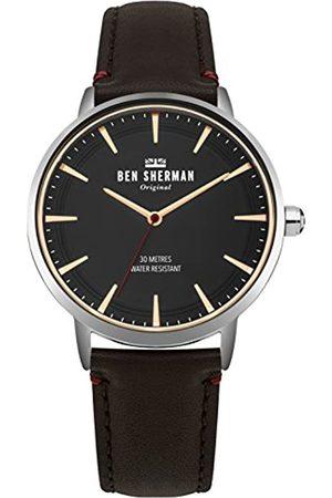 Ben Sherman Ben Sherman Herren Datum klassisch Quarz Uhr mit Leder Armband WB020BR