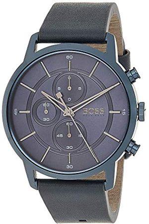 HUGO BOSS Hugo Boss Unisex Chronograph Quarz Uhr mit Leder Armband 1513575