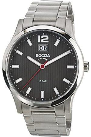 Boccia Boccia Herren-Armbanduhr XL Titanium Analog Quarz Titan 3580-02