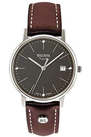 Soehnle Bruno Söhnle Herren Analog Quarz Uhr mit Echtes Leder Armband 17-13176-841