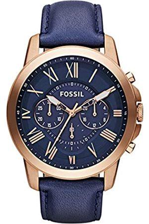 Fossil Fossil Herren Chronograph Quarz Uhr mit Leder Armband FS4835IE