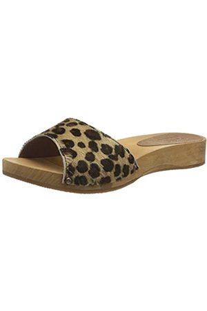Sanita Sanita Damen Camma Low Flex Sandale Pantoletten, Mehrfarbig (Leopard 87)