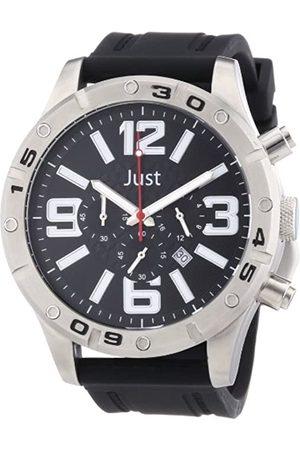 Just Watches Just Watches Herren-Armbanduhr XL Analog Quarz Kautschuk 48-S3978-BK