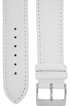 Cerberus Uhrenarmband 20 mm Leder weiß, Länge 75x115mm