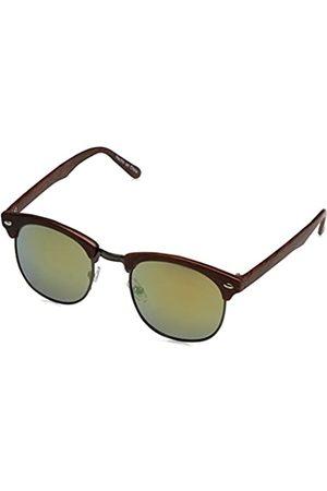 Desconocido Desconocido Herren Gafa Retro Wood Sonnenbrille