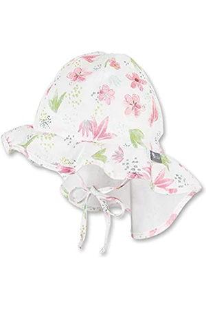 Sterntaler Flapper für Mädchen mit Bindebändern, Nackenschutz und Blumen-/Pflanzen-Motiven, Alter: 12-18 Monate, Größe: 49