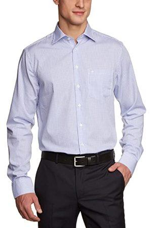 Seidensticker Seidensticker Herren Business Hemd Modern Fit – Bügelfreies Hemd, Mehrfarbig (16 Karo weiß blau)