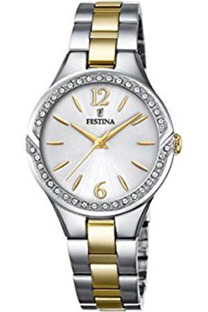 Festina Damen Analog Quarz Uhr mit Edelstahl Armband F20247/2