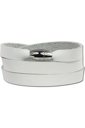 SilberDream SilberDream Unisex-Armband zum Wickeln mit Magnetverschluß Leder VLAP561W