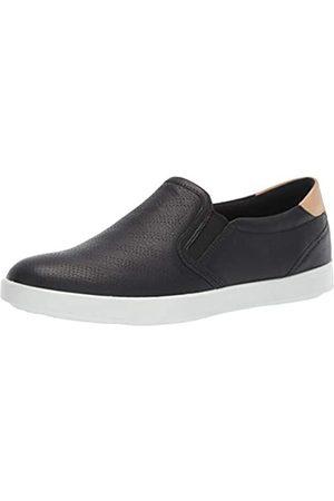 Ecco Damen LEISURE Slip On Sneaker, (Black/Powder 50263)