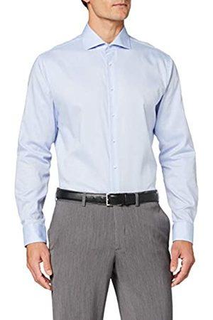 Seidensticker Herren Business Hemd Shaped Fit – Bügelleichtes Businesshemd (Hellblau 11)