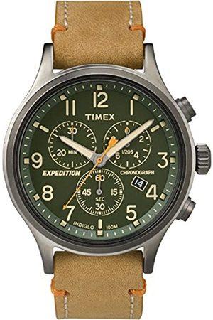 Timex Timex Herren Chronograph Quarz Uhr mit Leder Armband TW4B04400