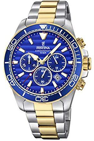 Festina Festina Herren Chronograph Quarz Uhr mit Edelstahl Armband F20363/2