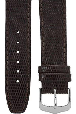 Cerberus Uhrenarmband 18 mm Leder dunkelbraun, Eidechsen-Optik, Länge 75x115mm