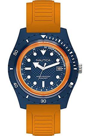 Nautica Nautica Herren Analog Quarz Uhr mit Gummi Armband NAPIBZ004