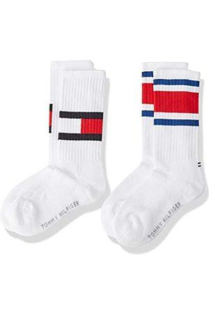 Tommy Hilfiger Mädchen Socken & Strümpfe - Unisex Kinder Flag Socken (2er Pack)