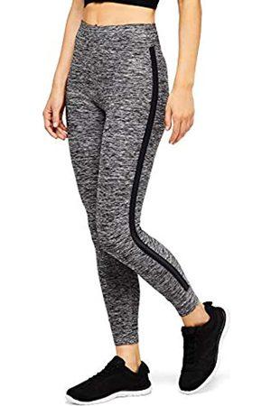 AURIQUE Amazon-Marke: Damen 7/8-Sportleggings mit Seitenstreifen, Grau (Grey Marl), 36