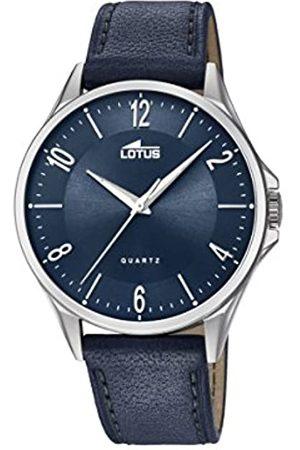 Lotus Lotus Herren Analoger Quarz Uhr mit Echtes Leder Armband 18518/3
