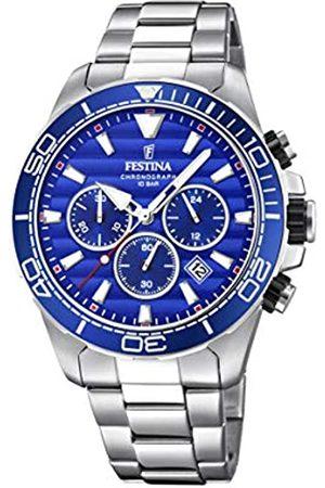 Festina Festina Herren Chronograph Quarz Uhr mit Edelstahl Armband F20361/2